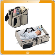 Multifunctional baby diaper travel bag baby changing bed diaper bag