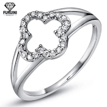 Women's 925 Sterling Silver Snow Shaped Engagement Finger Ring With High Quality