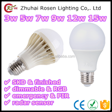 china market CE RoHS EMC LM79 certificate 3w 5w 7w 9w 12w 15w 100 lm/w LED bulb light