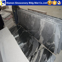 polished Kashmir black granite prices of granite per meter With High Quality