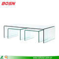 high quality modern acrylic lucite nesting coffee table and chairs