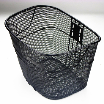 Decorative Tall Black wire bicycle basket