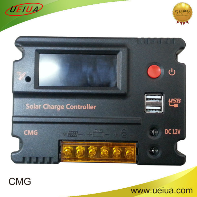 CMG-2410 CMG-2420 PWM solar charge controller manual solar regulator with dual DC & USB output switch China supplier 12v 24v 10A