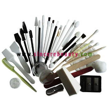 disposable brush applicator kit with mascara wand