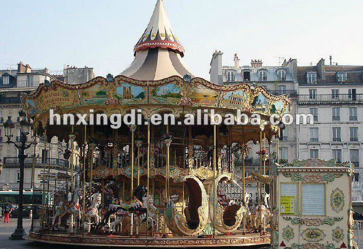 Attractive and charming mini carousel horse merry go round equipment