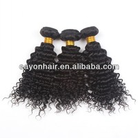 Eayon hair company 14 inch brazilian kinky curly remy hair weave