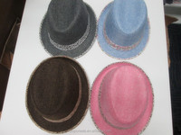 2015 colorful promotional straw hats