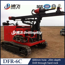 Bore pile drill machine DFR-6C, Crawler Type Piling Rig, Hydraulic Rotary Drilling Rig