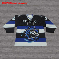 Best design sublimated reversible youth hockey jersey