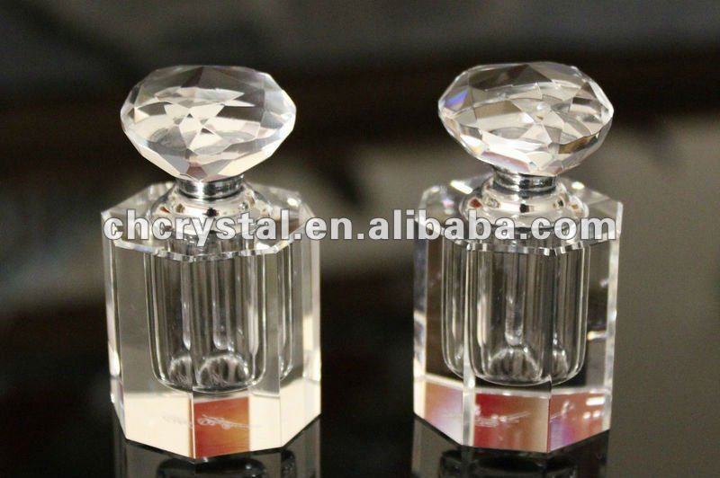 diamond head crystal perfume containers, perfume bottle