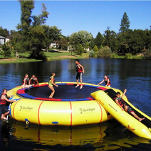 Hot sale air-tight attractive lake inflatables water park games toys inflatable floating trampoline