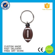 cheap college athletic gifts Amerian football shape pvc keychain