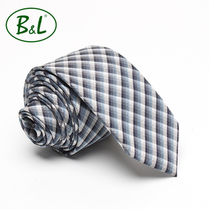 2018 new design factory direct 100% silk check and stripe men custom knit silk tie