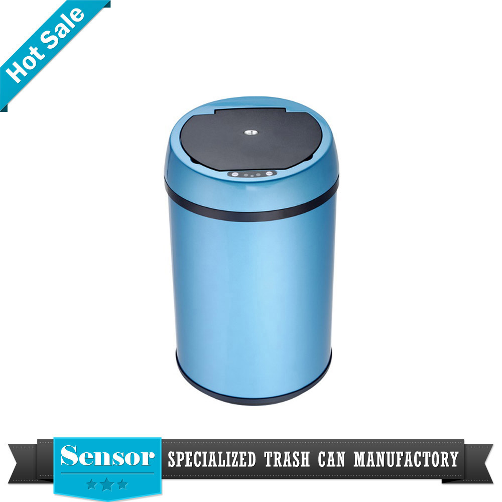 kitchen stainless steel smart infrared hospital lounge motion sensor trash can