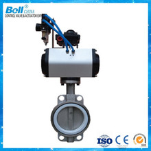 pneumatic aluminium body bare shaft butterfly valve dn200 for sea water