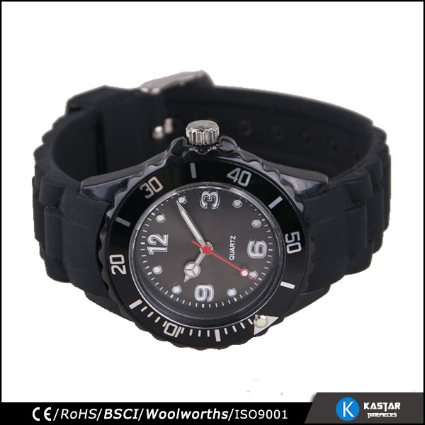 rotating style ladies quartz watches bezel japan movt, black lady watch
