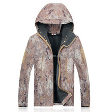Men's All-season Front-zip Hooded Raincoat Waterproof Outdoor Softshell Jacket