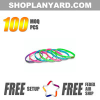 Free Sample Custom Silicone Wristband With Color Filled