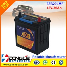 12V 36Ah acid lead MF exide Quality 38b20l car battery