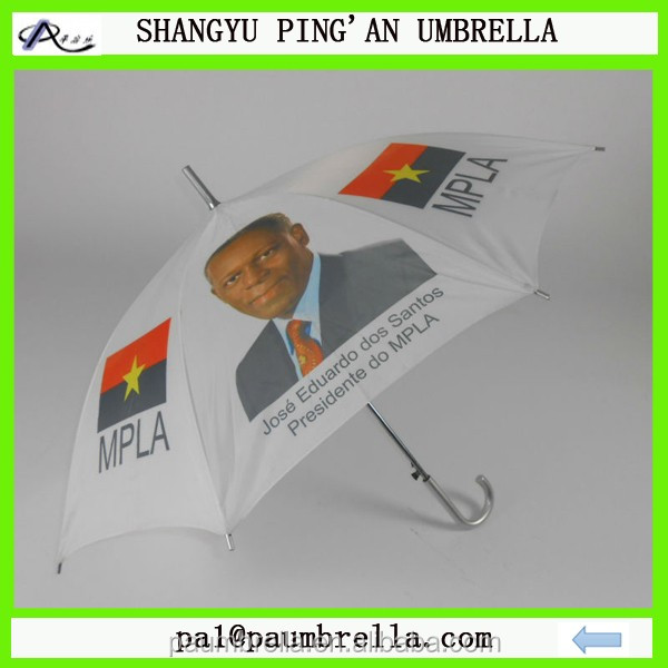 Presidential campaign printing promotional straight low cost umbrella