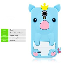 life proof 3d cute cartoon animal silicone case for samsung galaxy s4 i9500 s4 mini i9190