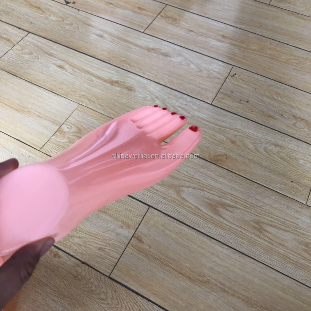 plastic mannequin foot with nail polish painted for sandal ,sandal display