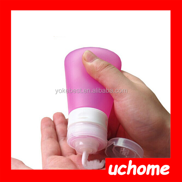 UCHOME Squeeze Silicone Travel Shampoo Bottle BPA Free Silicone Travel Bottle/ Eco Friendly Wholesale Cosmetic Containers