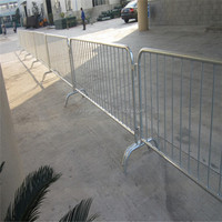 High quality crowd control barrier movable feet ( Factory , ISO 9001 Certificate )