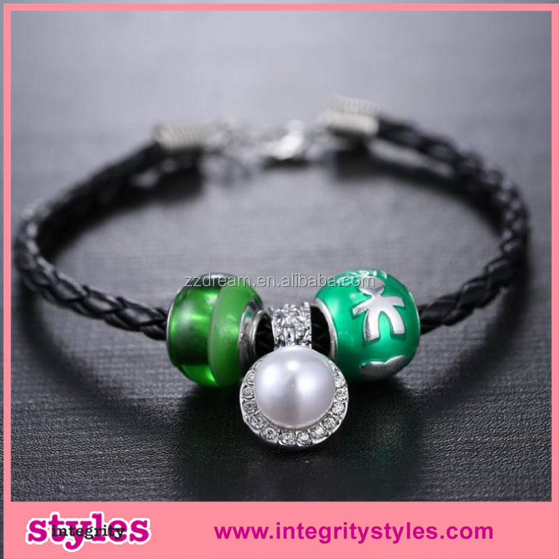 Customed Hot Sale EBAY Trendy Glow Charm Bead Bracelet