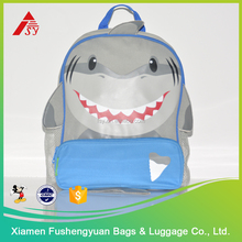 China Manufacture Wholesale Shark modelling personalized school bag