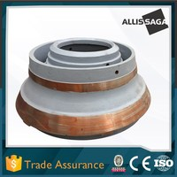 Allis Saga high manganese steel casting mantle and concave for cone crusher