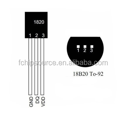 Original DS18B20 Temperature Sensor IC TO-92