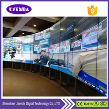 USENDA factory cost effective 3.5mm super narrow seamless bezel tiled 55 inch 4K video wall With original Samsung/LG DID panels