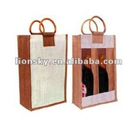 fabric wine bottle gift bag