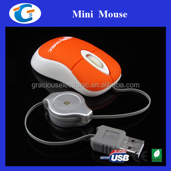 Mini Retractable USB Optical Scroll Mouse for Laptop PC