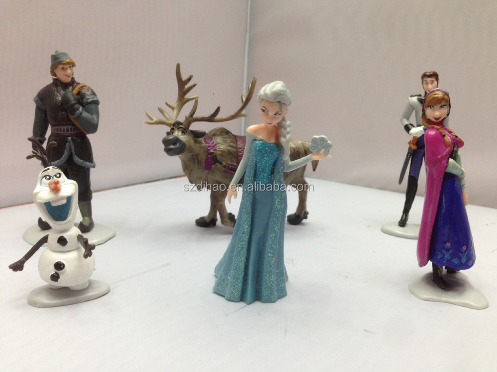 DIHAO Frozen Dolls frozen plastic mini figure/frozen small character figure/frozen plastic small figurine