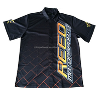 Sublimated OEM Custom Men's Motorcycle Race Team Shirt, Pit Crew Shirt