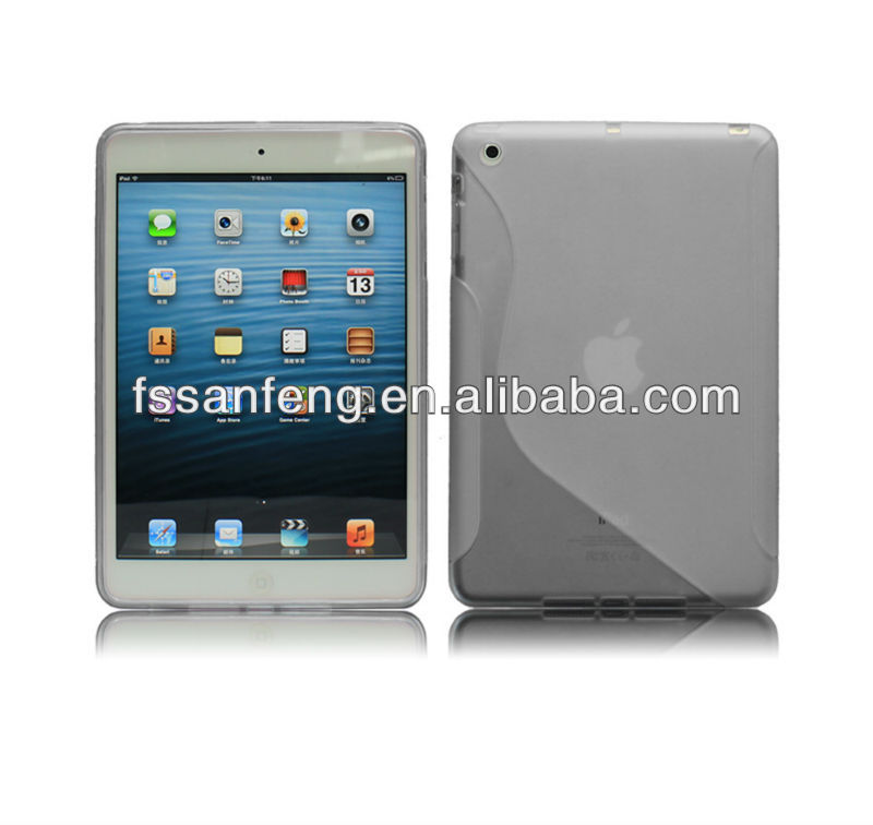 mobile phone case for iPad 2/3/4 with wholesale price,Mobile transparent hard blank tpu clear phone case for ipad mini