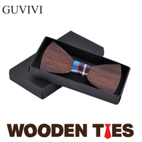 GUVIVI Original Fashion Handmade Wooden bowtie Both male/female elegant wood ties Butterfly Neck Tie For Men Jewelry Accessories
