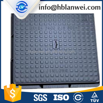 Grey Iron Waterproof Square Manhole Cover