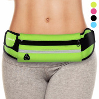 Waist Pack Best Running Belt Fanny Pouch Waistband Case Holds All Cell Phones Sports Fitness Holder Bag fits Women Men Jog Runne