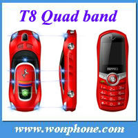 T8 Ferrari Car Mobile Phone + 1.4inch screen