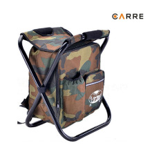 camouflage insulated folding stool picnic cooler chair backpack