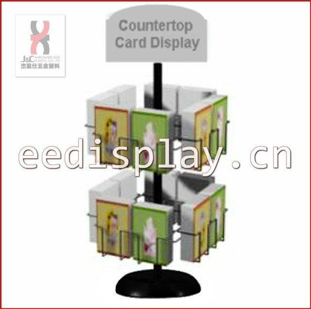 Metallic Countertop GiftCard Display Rack and Stand/Revolving Greeting Card Display Rack/Store Spinning Postcards Display Holder