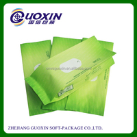 Custom printed heat seal plastic laminated bag for wet wipes