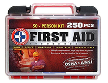 FDA CE ISO approved waterproofs Plastic customized household Auto box Exceeds OSHA ANSI Standards 250 Piece First Aid Kit