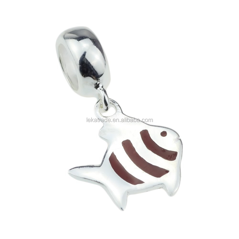 Wholesale Fish Dangle 925 Sterling Silver Pendant Charm Jewelry