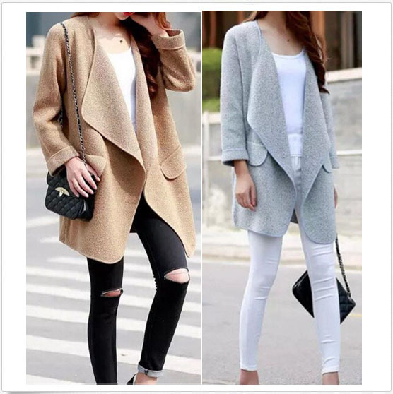 Wholesale custom women cardigan without buttons white lady sweater ...