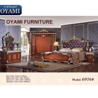 Hot sale Italian style carved solid wood king beds