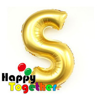 Wholesale Popular Hot Selling Gold Letter Foil Balloons Printing Party Decoration